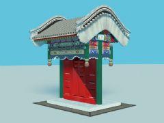 精美古建垂花门,大木结构,max,fbx文件