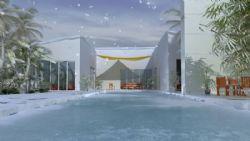 很好很完美的冬日雪景,雪花飘散动画(网盘下载)