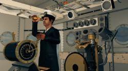 高精度船舱船长远望驾驶场景,带绑定动画