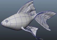maya特色金鱼模型
