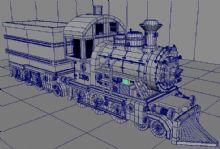 自己做的maya火车