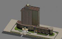 深圳皇轩酒店,贴图表现