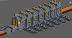 冷轧钢,精轧机加层流冷却生产线模型