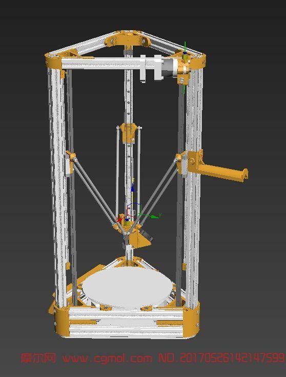 3d打印机max模型