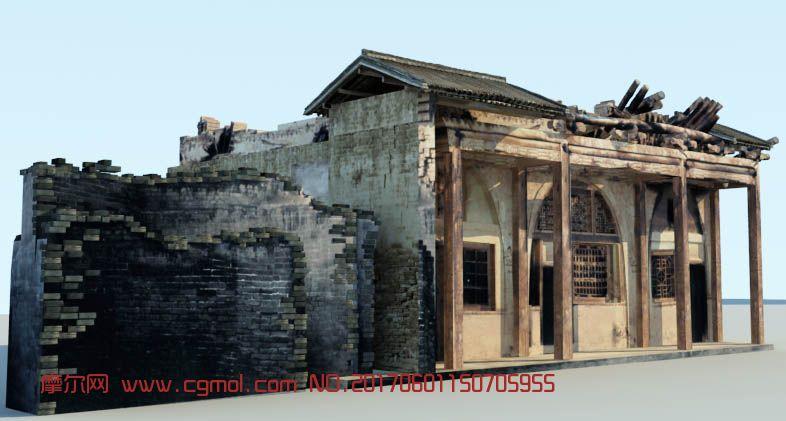 陕北土房,窑洞模型