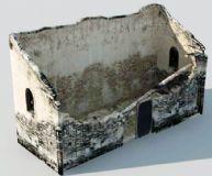 损坏的砖房,民居