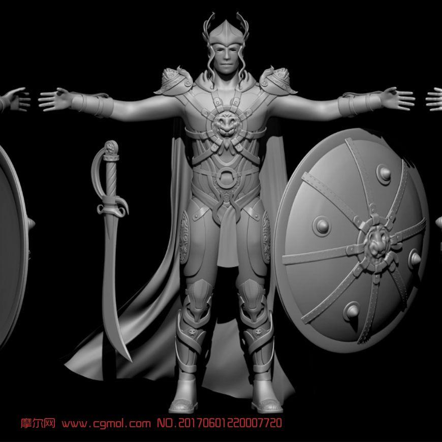 古代renti_古代步兵人体高模maya作品