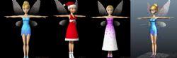 影视级别小叮当,小仙女三套服装(短裙,礼服,圣诞服)