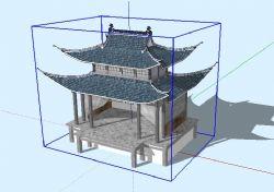 古戏台SU模型