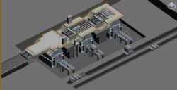 轧钢卷取机max模型