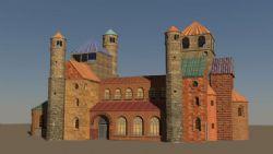 欧式乡村教堂,mb,fbx格式