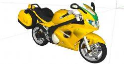 摩托车su模型