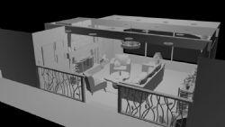 室内客厅设计maya模型