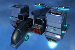 科幻垂直升降的战斗直升机maya模型