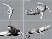 鳄鱼stl模型