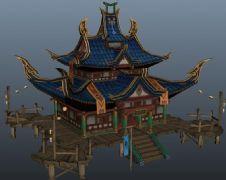 聚义堂maya模型