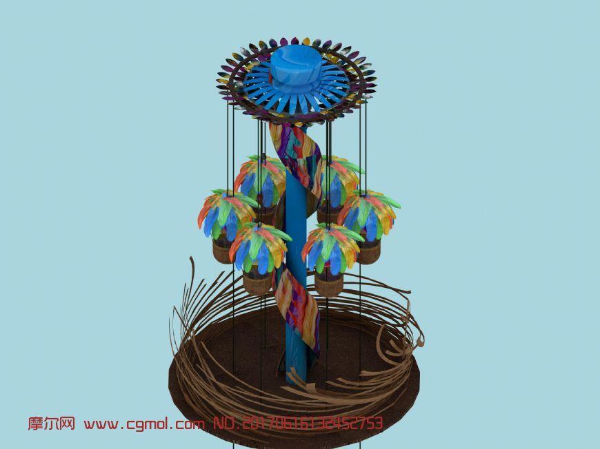 游乐场凤巢降落伞