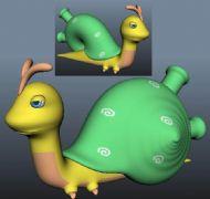 一只卡通蜗牛,mb,obj,stl,ztl四种格式,满足您的需要