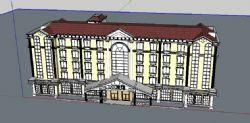 欧式旅馆酒店建筑