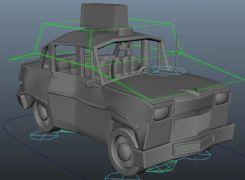 卡通的士汽车maya模型