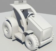Q版卡丁车,小汽车maya模型