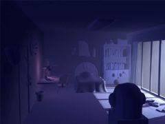 一个单身公寓卧室maya素模