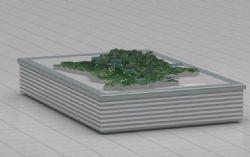 山区重要蔬果种植地形沙盘模型