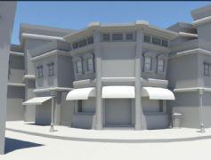 一个简单的街景maya模型