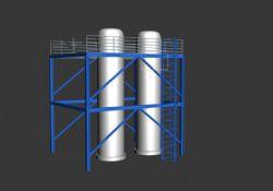 实用的工业罐模型