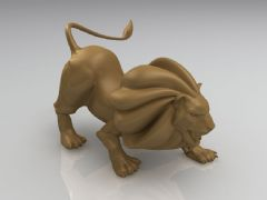 愤怒的狮子雕塑