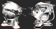 大眼监视机器人max模型