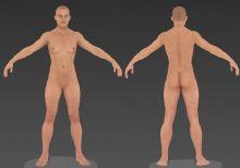 超精细Zbrush人物角色模型,ZPR格式