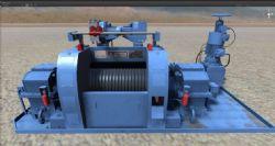 石油钻机平台绞车,无贴图