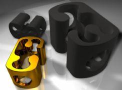 镀金金属扣件maya模型