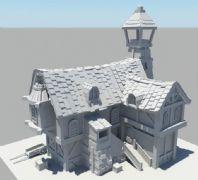 一����外小房子,民房maya模型