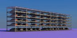 3D立体停车场,无贴图