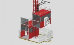 工地施工电梯max模型