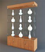 酒柜,装饰品陈列柜模型