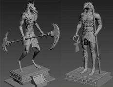 埃及阿努比斯,莫神雕像,obj,ztl,max三种格式(网盘下载)