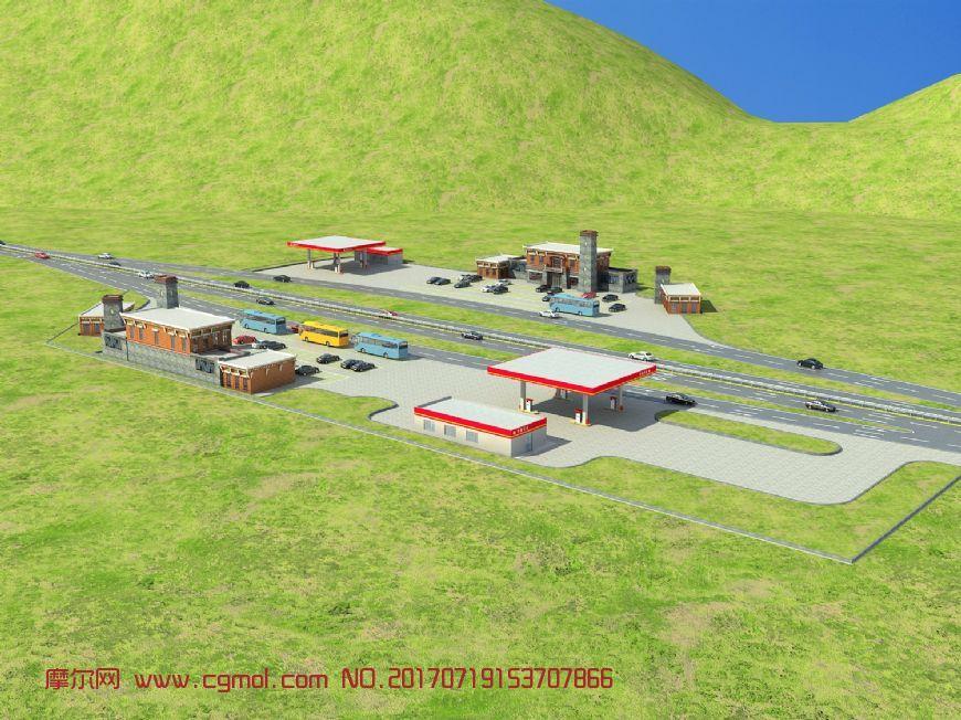 藏式高速路服务区
