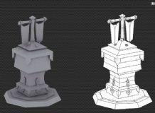 新手做的低模小塔