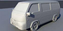 五菱之光面包车货车maya模型