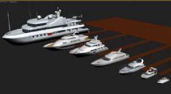 七款酷炫的游艇模型