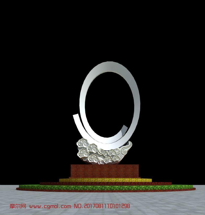 0型框景祥云雕塑
