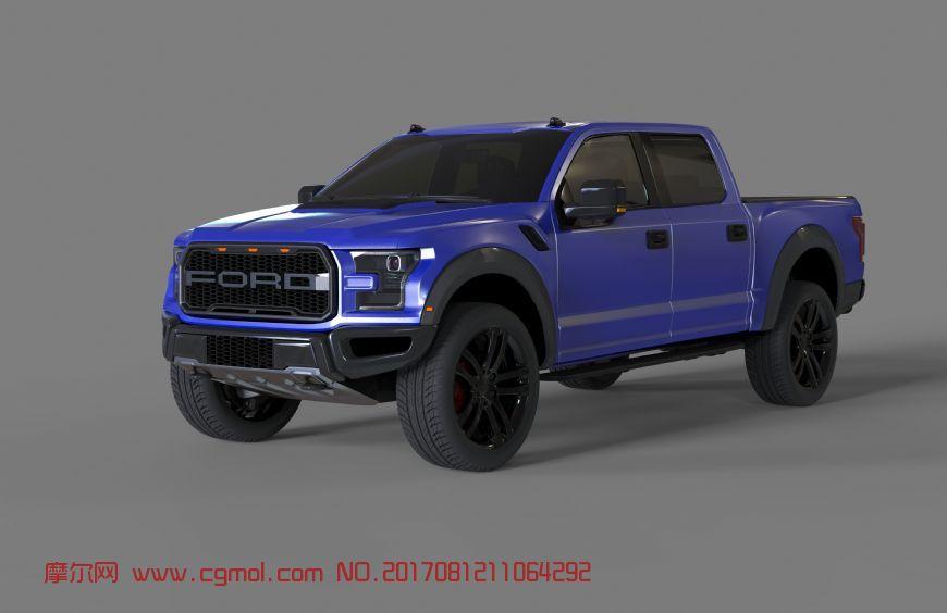 福特-F150精模maya2017模型