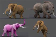 非洲大象,1400帧动作,3种2048分辨率高清贴图