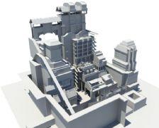 一个科幻画的工厂设计Maya模型