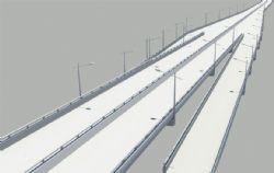 城市环线高架桥出入口maya模型