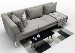 现代简约沙发茶几组合max模型,贴图全