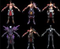 【混沌大陆】 Atin角色6款设计模型,贴图全